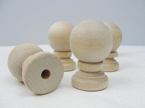 Wooden ball finial set of 5 - Wood parts - Craft Supply House