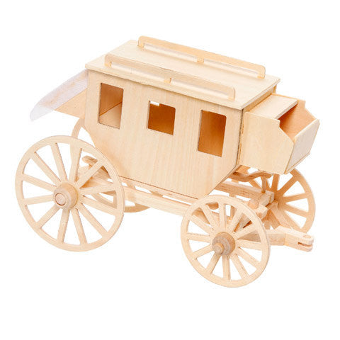 Stagecoach wood model kit - Model kits - Craft Supply House