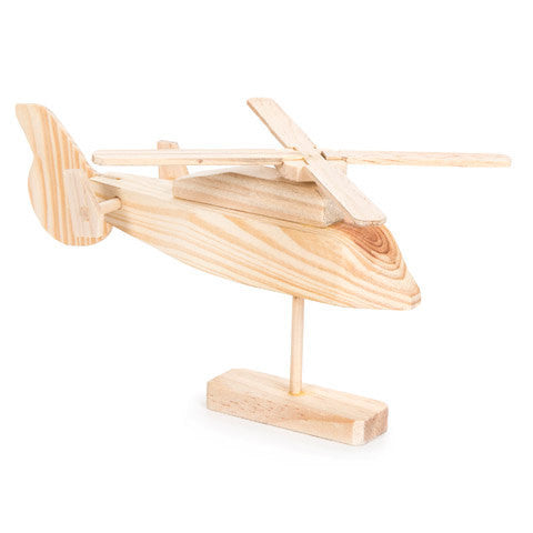 Rescue helicopter wood model kit - Model kits - Craft Supply House