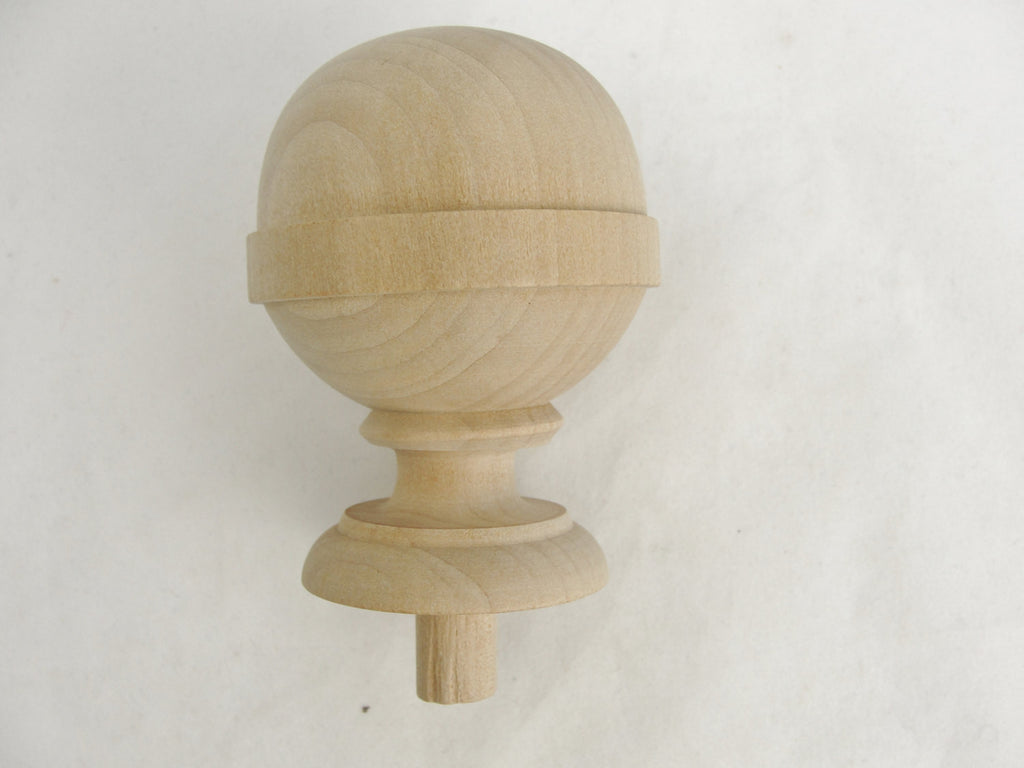 Large wooden ball finial - Wood parts - Craft Supply House