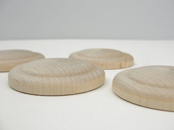 Medium wood rosette set of 4 - Wood parts - Craft Supply House