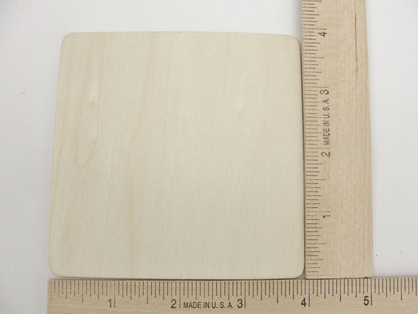 "4"" Wooden squares, large wood square tiles, set of 10 - Wood parts - Craft Supply House"
