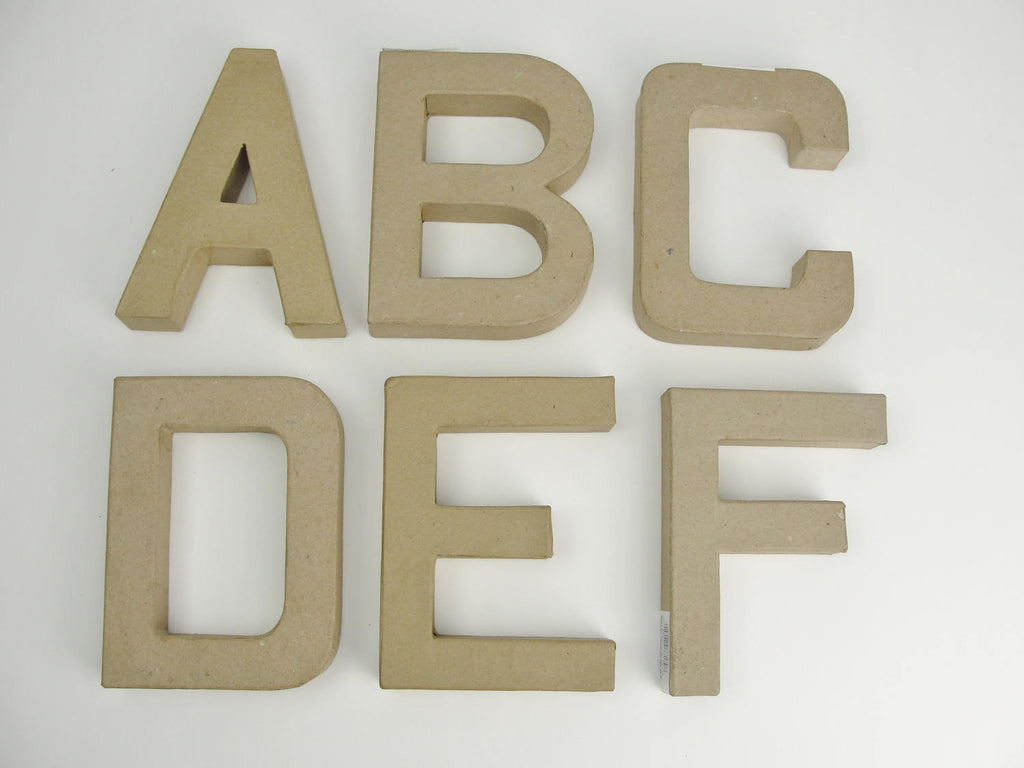 "Paper Mache letters 6"" tall - Paper Mache - Craft Supply House"
