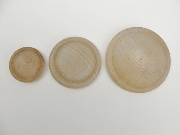 Large wood rosette set of 4 - Wood parts - Craft Supply House