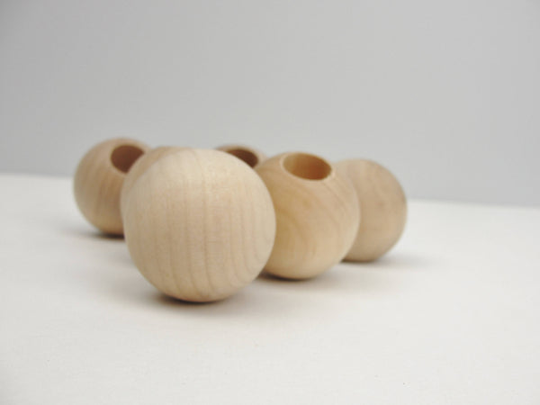 "Wooden end cap ball 1.5""  end cap 19/32"" hole set of 6 - Wood parts - Craft Supply House"