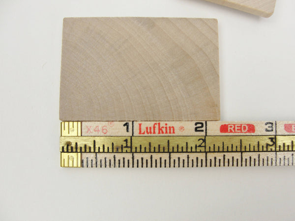 "Wooden rectangle 2 1/8"" x 1 1/2"" unfinished DIY set of 6 - Wood parts - Craft Supply House"