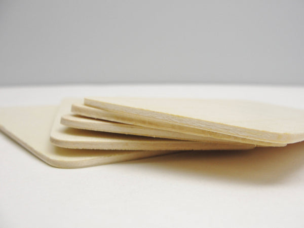 "Wooden rectangles 5 7/16"" x 2 3/4"" set of 5"