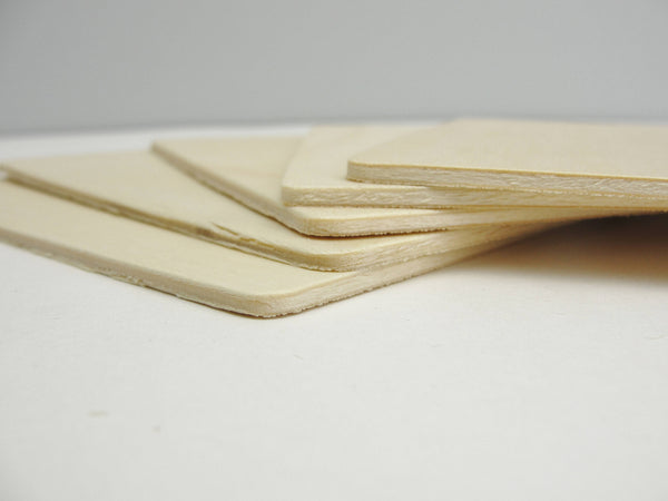 "Wooden rectangles 5"" x 4"" set of 5"
