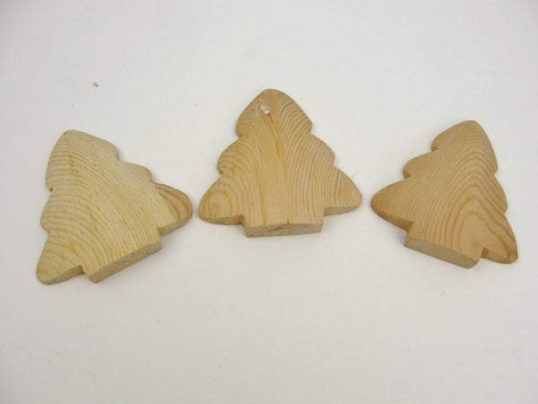"Short Puffy tree cutout unfinished diy 4 3/16"" tall set of 3 - Wood parts - Craft Supply House"