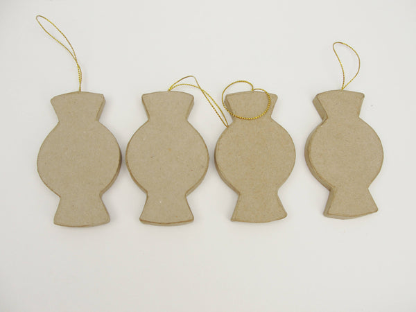 Paper mache candy ornament set of 4 - Paper Mache - Craft Supply House