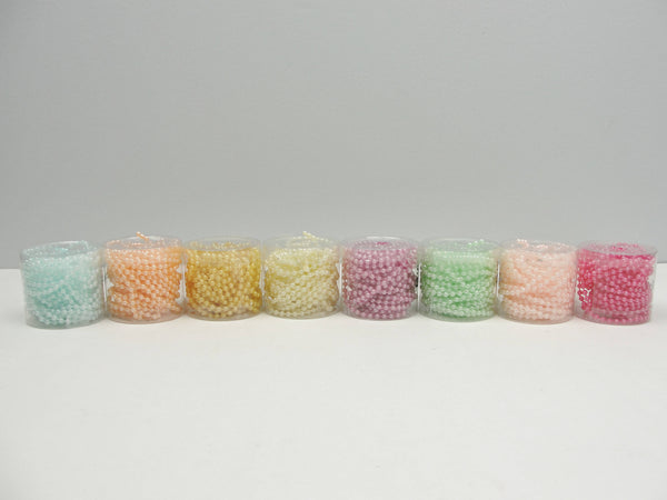 Pearl Beadstring 3mm 5 yards pick your color - General Crafts - Craft Supply House