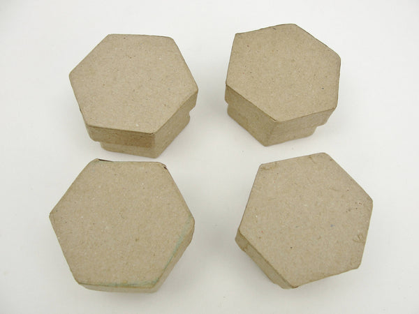 Micro gift boxes set of 4, choose your shape - Paper Mache - Craft Supply House