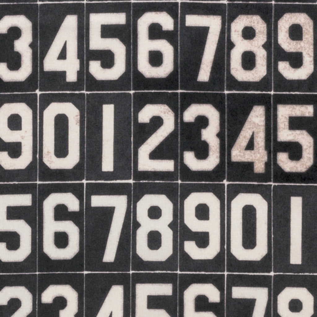 Tim Holtz Black Numbers fabric yardage