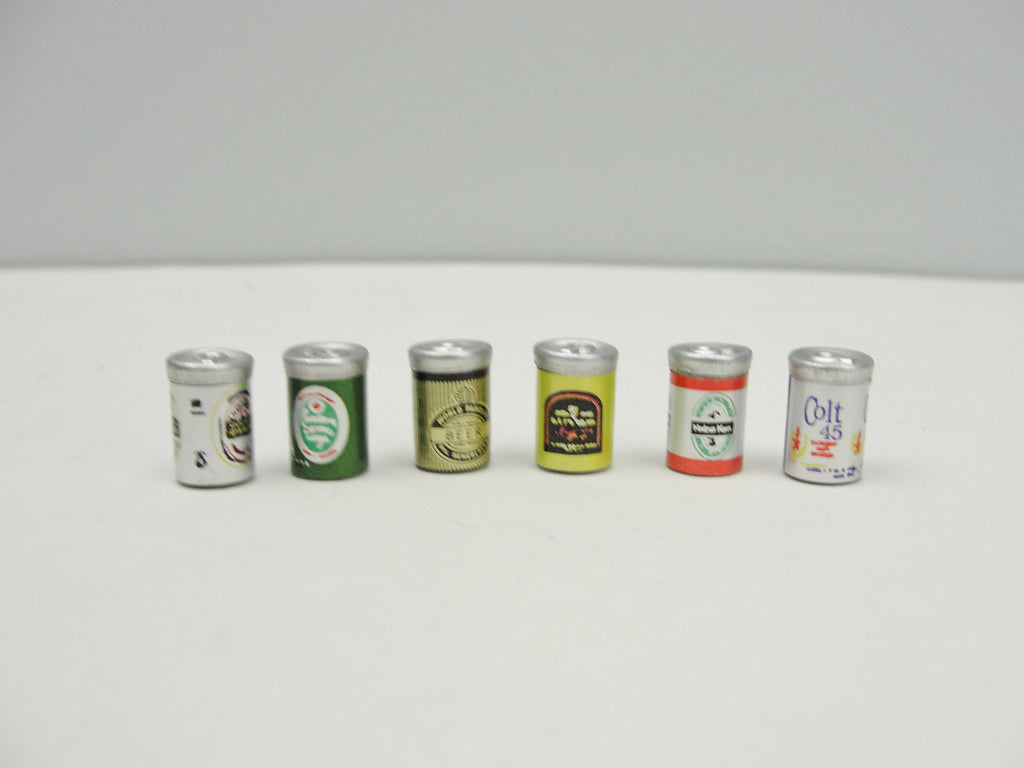 Dollhouse beer cans set of 6 - Miniatures - Craft Supply House