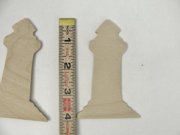Wooden Lighthouse cutouts set of 4 - Wood parts - Craft Supply House