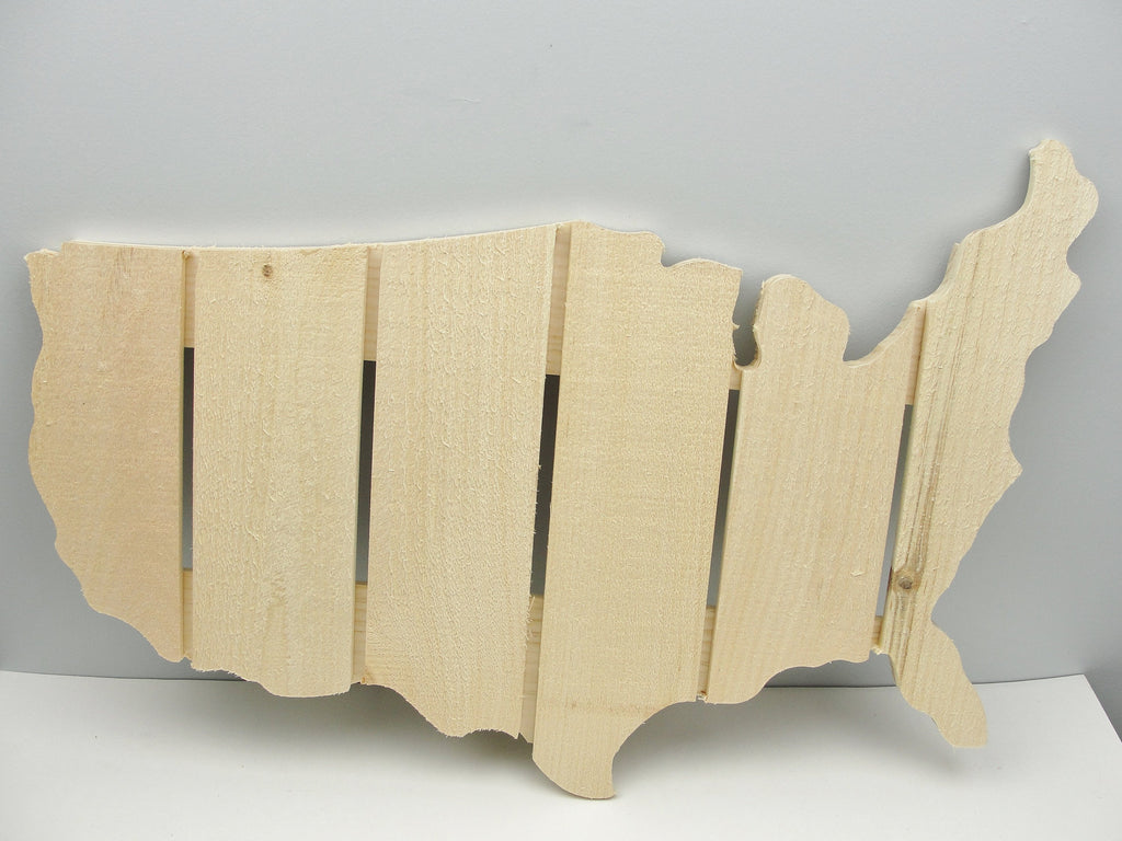 Wood United States Map - Wood parts - Craft Supply House