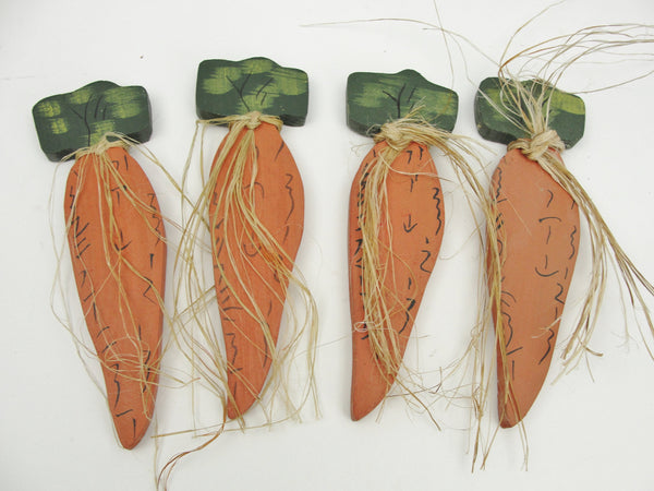 4 wooden carrots - Wood parts - Craft Supply House