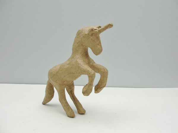 Small paper mache unicorn
