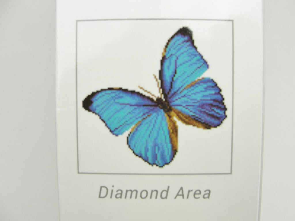 Diamond Dotz blue butterfly intermediate kit - General Crafts - Craft Supply House