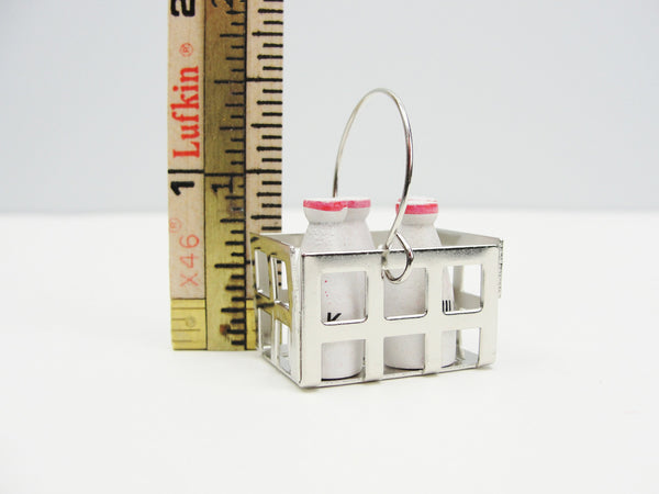 Dollhouse miniature milk bottle and crate - Miniatures - Craft Supply House
