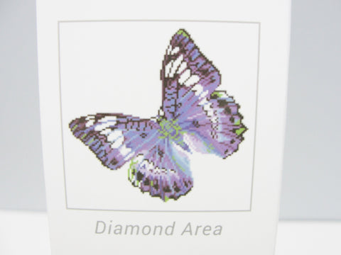 Diamond Dotz mauve butterfly intermediate kit Flutter By Mauve - General Crafts - Craft Supply House