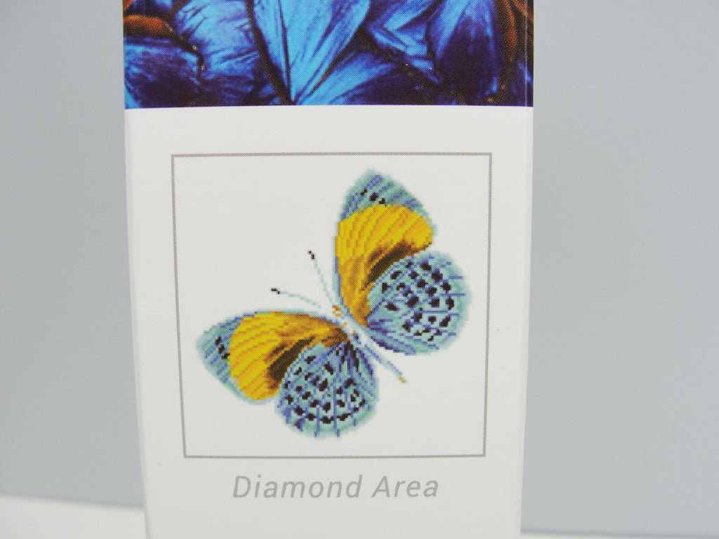 Diamond Dotz gold butterfly intermediate kit Flutter By Gold - General Crafts - Craft Supply House