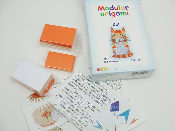 Modular Origami cat kit - General Crafts - Craft Supply House
