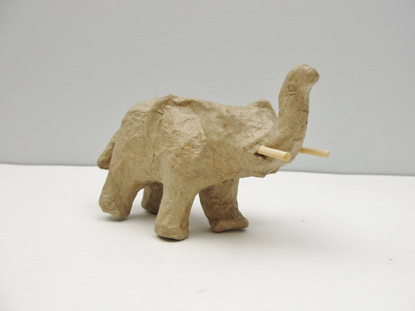 Small paper mache elephant - Paper Mache - Craft Supply House