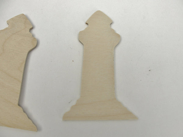 Wooden Lighthouse cutouts set of 4