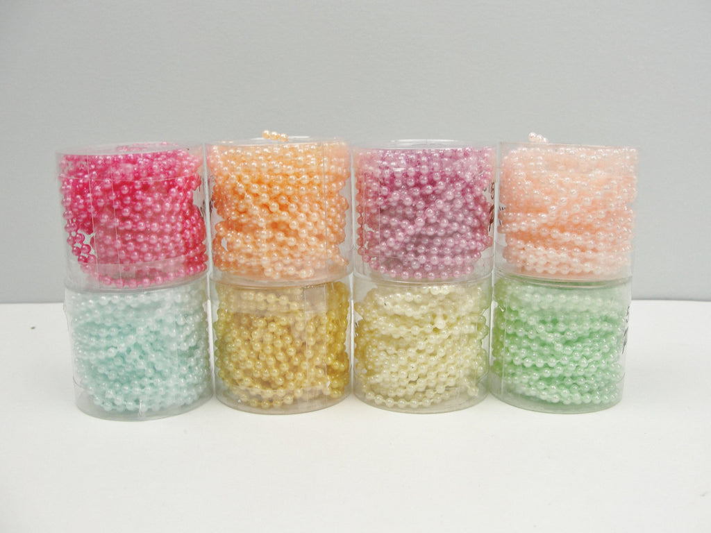 Pearl Beadstring 4mm 5 yards pick your color
