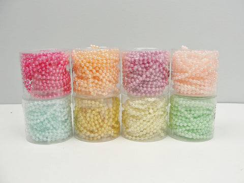 Pearl Beadstring 3mm 5 yards pick your color