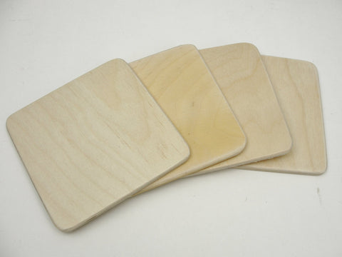 Wood square coaster blank - Wood parts - Craft Supply House