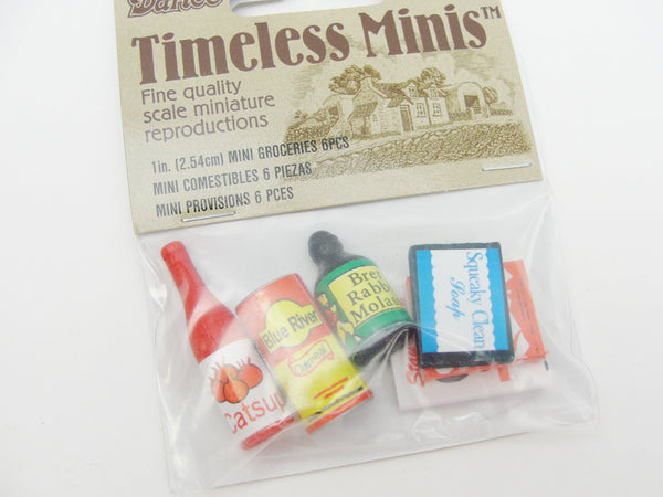 Dollhouse miniature grocery products set of 6 - Miniatures - Craft Supply House