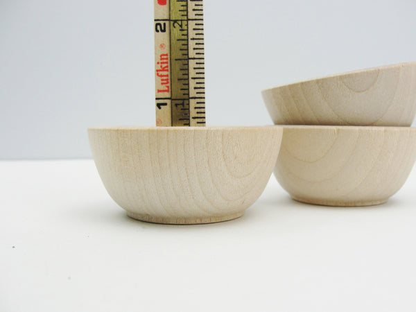 "2 1/2"" Miniature wooden bowl, small ring cup, condiment bowl unfinished set of 3 - Wood parts - Craft Supply House"