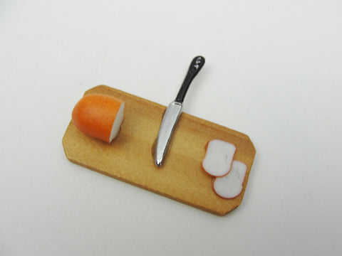 Dollhouse miniature bread and knife set - Miniatures - Craft Supply House