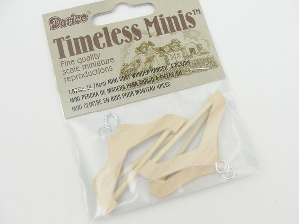 Dollhouse miniature wood clothes hangers - Miniatures - Craft Supply House