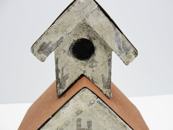 Wood and metal shabby church or school birdhouse - General Crafts - Craft Supply House