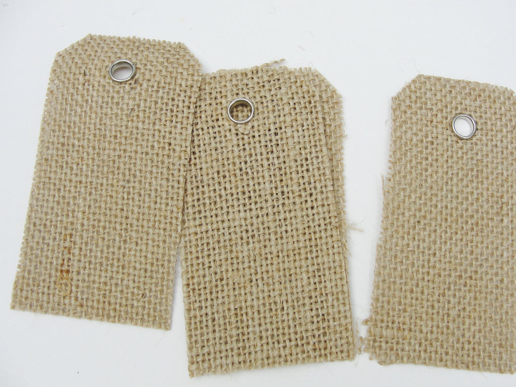 "Burlap tags 3 1/2"" x 1 3/4"" package of 15 - General Crafts - Craft Supply House"