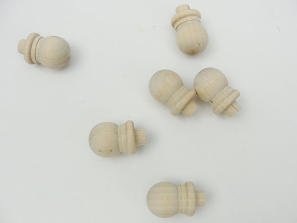 Tiny ball finial set of 6 - Wood parts - Craft Supply House