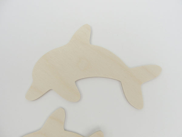 Dolphin cutouts set of 4 - Wood parts - Craft Supply House