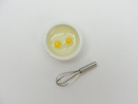Dollhouse miniature bowl of eggs and whisk - Miniatures - Craft Supply House