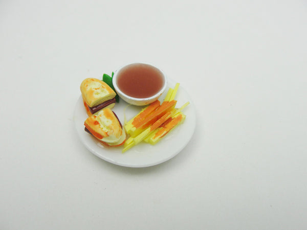 Dollhouse miniature plate of food - Miniatures - Craft Supply House