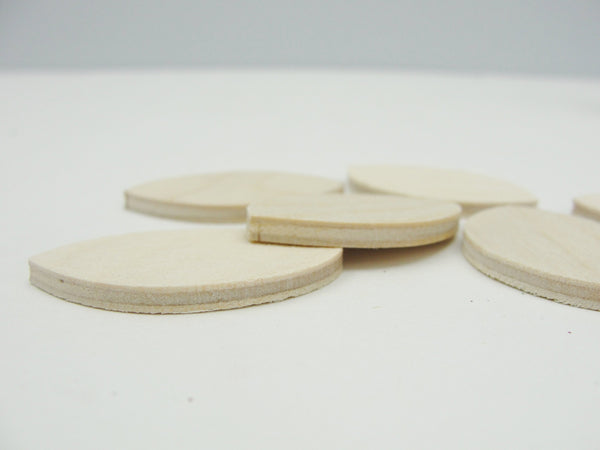 "Wooden football 1 1/2"" x 1/8"" set of 6 - Wood parts - Craft Supply House"