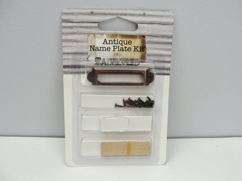 Antique look name plate kit - Mixed Media Art Supplies - Craft Supply House