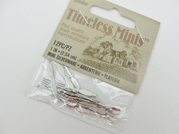 Dollhouse miniature silverware eating utensils - Miniatures - Craft Supply House