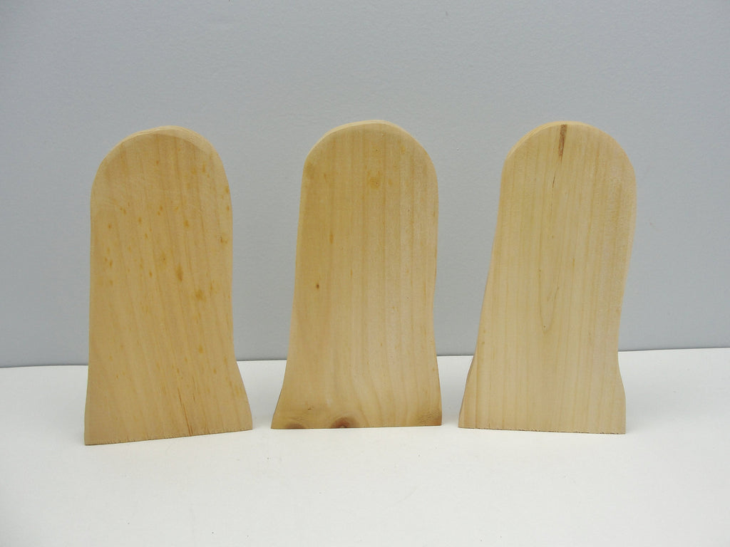 Ghost or tombstone cutout set of 3 - Wood parts - Craft Supply House