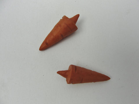 Orange carrot snowman nose .87 inch (2.2 cm) set of 2 - General Crafts - Craft Supply House