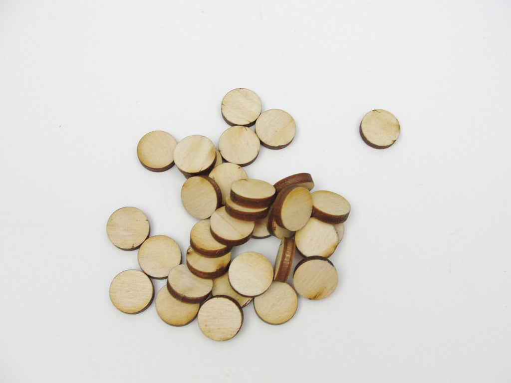 "Wooden Circles,  .5"" disc (1/2"") wood disk 1/8"" thick choose your quantity"