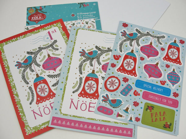Christmas Noel card making kit -  - Craft Supply House