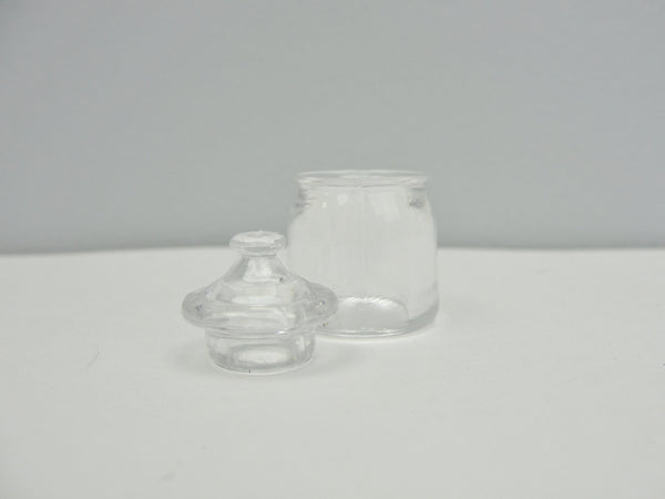 Miniature dollhouse clear canister, mini cookie jar - Miniatures - Craft Supply House